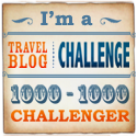 I'm a 1000-1000 Travel Blog Challenger