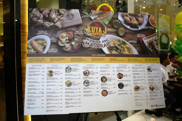 The whole menu.