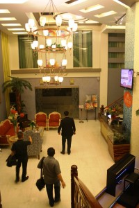 Metro Inn's lobby.