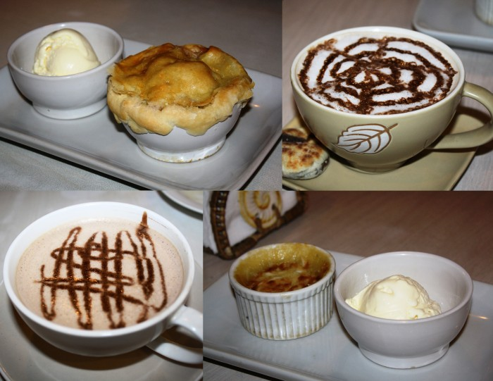 Desserts and warm beverages to cap the night.