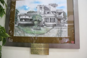 A sketch of Villanueva's art deco house is displayed in the Cactus Hall.