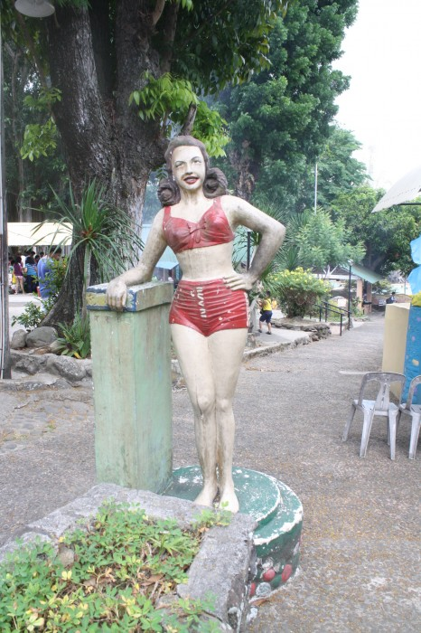 This statue of a lady has been here for years. Nice to still see it standing.