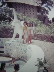 Another childhood photo taken at the kiddie pool.