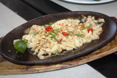 Squid sisig.
