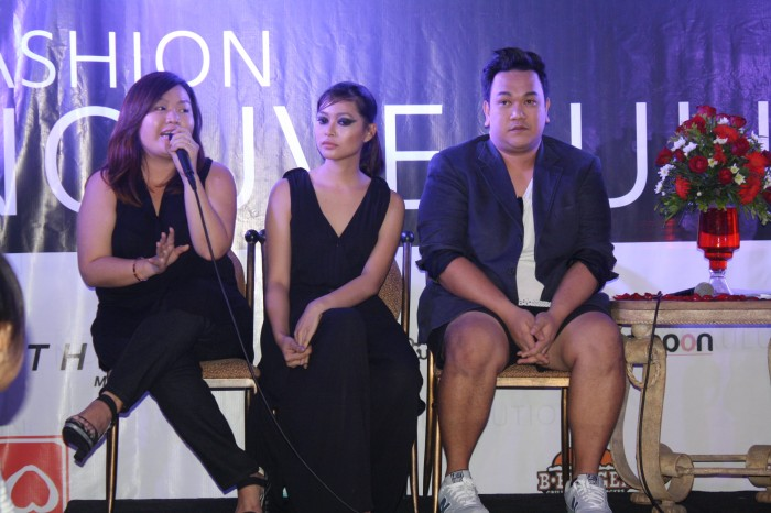 Kez Pedroza and her team during the press launch.