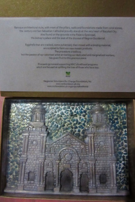 A miniature relief of the San Sebastian Cathedral.