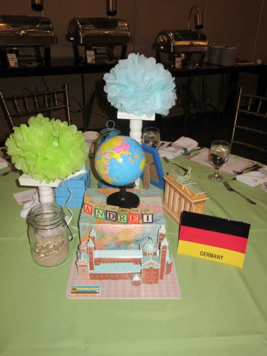 I was seated at the Germany table.