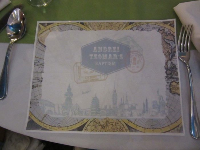 The place mat.