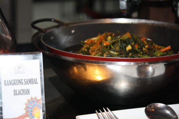 Spicy kangkong dish.